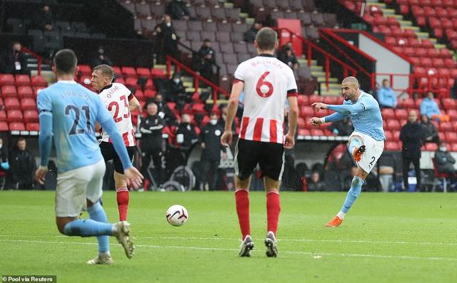 Sheffield United 0-1 Manchester City: Kyle Walker lập siêu phẩm, Man City thắng tối thiểu Sheffield - Ảnh 2.