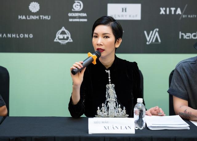 Hoa hậu Khánh Vân - nàng thơ show diễn mới của Xuân Lan - Ảnh 1.