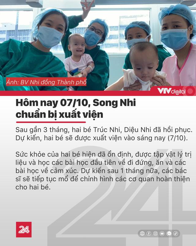 Tin nóng đầu ngày 7/10: Chị em Song Nhi chuẩn bị xuất viện - Ảnh 1.