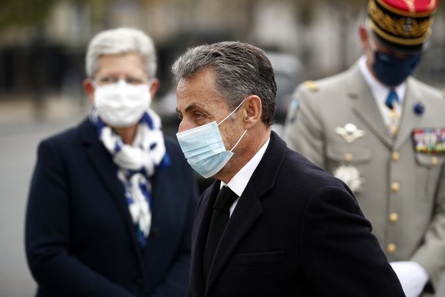 Cựu Tổng thống Pháp Nicolas Sarkozy ra tòa về tội danh tham nhũng - Ảnh 1.