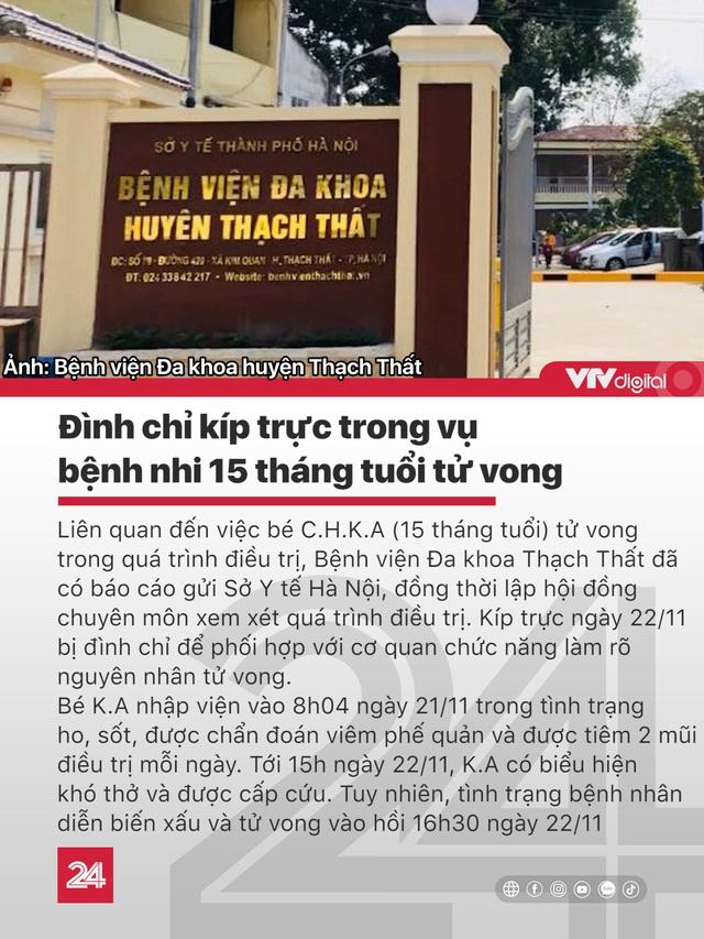Tin nóng đầu ngày 24/11: Thanh tra giao thông lái xe ngược chiều tông chết người - Ảnh 2.