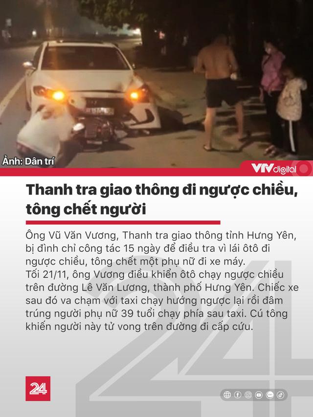 Tin nóng đầu ngày 24/11: Thanh tra giao thông lái xe ngược chiều tông chết người - Ảnh 1.