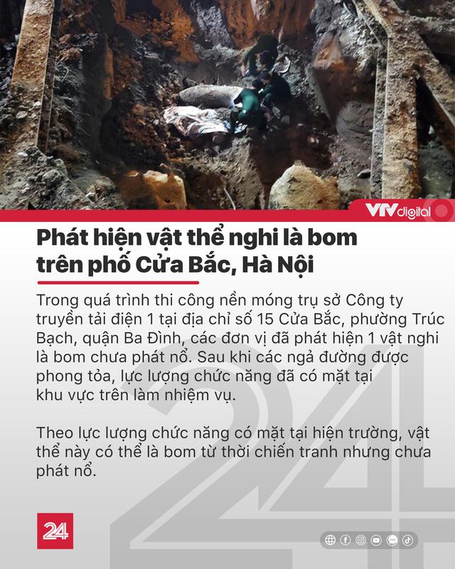 Tin nóng đầu ngày 29/11: Phong tỏa các ngả đường để xử lý quả bom ở Hà Nội - Ảnh 1.