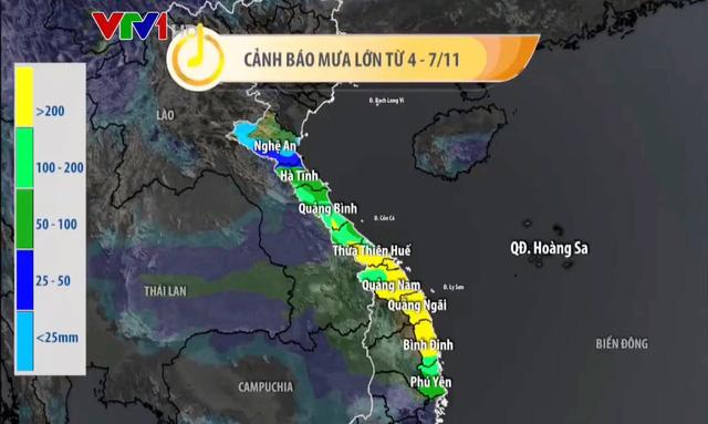 Bão số 10 có thể mạnh lên, gây mưa to diện rộng ở miền Trung - Ảnh 3.