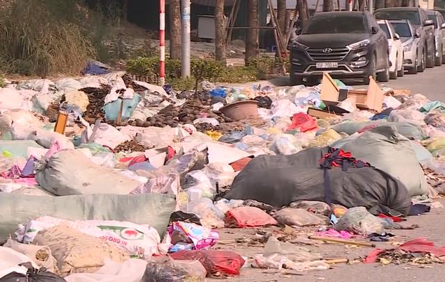 Rác thải tràn lan trên đại lộ nghìn tỷ đồng ở Hà Nội - Ảnh 1.