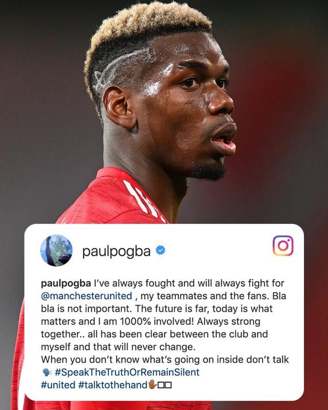 Paul Pogba lên tiếng về tương lai sau trận derby Manchester - Ảnh 1.