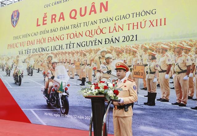 [Ảnh] CSGT ra quân bảo đảm trật tự, an toàn giao thông phục vụ bảo vệ Đại hội XIII của Đảng - Ảnh 7.