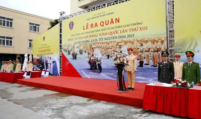[Ảnh] CSGT ra quân bảo đảm trật tự, an toàn giao thông phục vụ bảo vệ Đại hội XIII của Đảng - Ảnh 8.