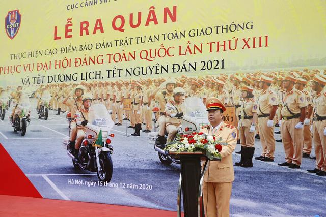 [Ảnh] CSGT ra quân bảo đảm trật tự, an toàn giao thông phục vụ bảo vệ Đại hội XIII của Đảng - Ảnh 6.