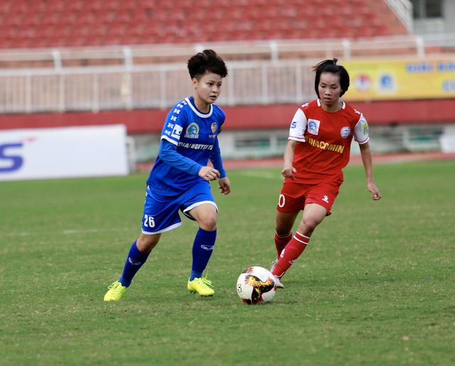 Vòng 11 giải bóng đá nữ VĐQG 2020: Tuyết Dung lập cú repoker - Ảnh 1.