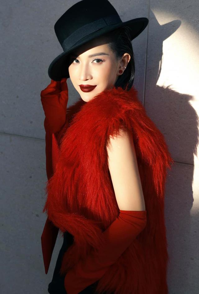 Ngắm sao Việt diện đầm đỏ cực chất dịp Giáng sinh - Ảnh 4.
