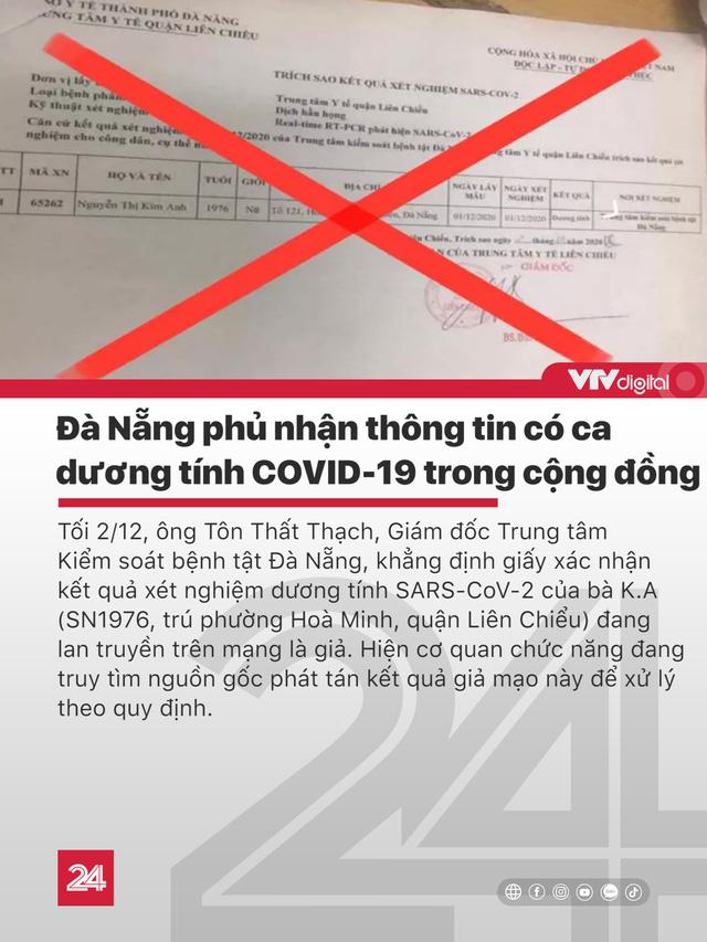Tin nóng đầu ngày 3/12: Thực hư thông tin Đà Nẵng có ca mắc COVID-19 mới - Ảnh 3.