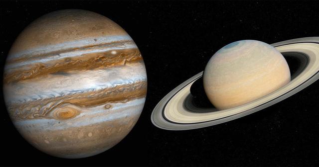 """Lần đầu sau 800 năm, xuất hiện """"Ngôi sao khổng lồ"""" hợp nhất bởi Sao Mộc và Sao Thổ - ảnh 1"""