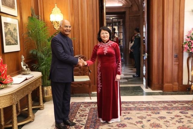 Phó Chủ tịch nước Đặng Thị Ngọc Thịnh hội kiến với Tổng thống Ấn Độ - Ảnh 1.