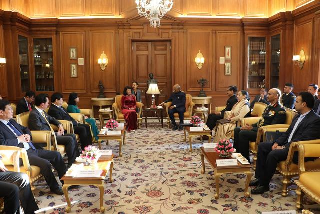 Phó Chủ tịch nước Đặng Thị Ngọc Thịnh hội kiến với Tổng thống Ấn Độ - Ảnh 2.