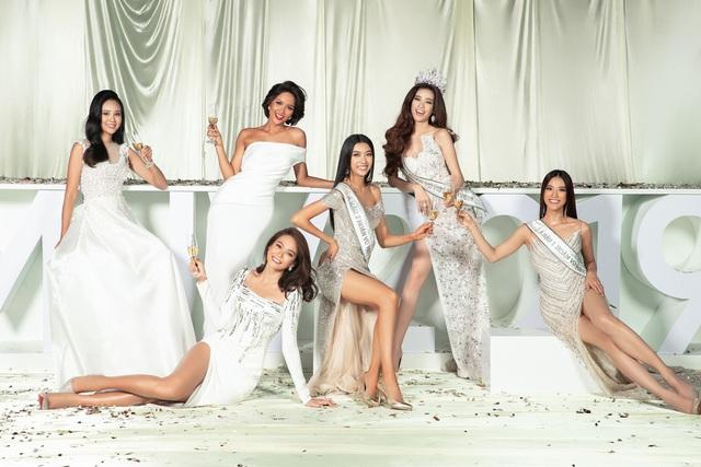 Dàn người đẹp Hoa hậu Hoàn vũ hội ngộ trong bộ ảnh Valentine - Ảnh 1.