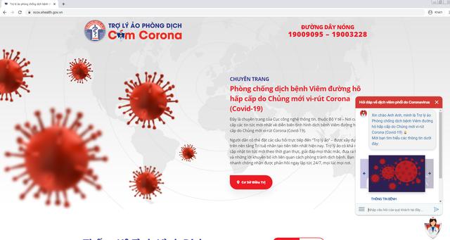 Bộ Y tế chính thức ra mắt chatbot hỏi đáp về dịch bệnh COVID-19 - Ảnh 1.