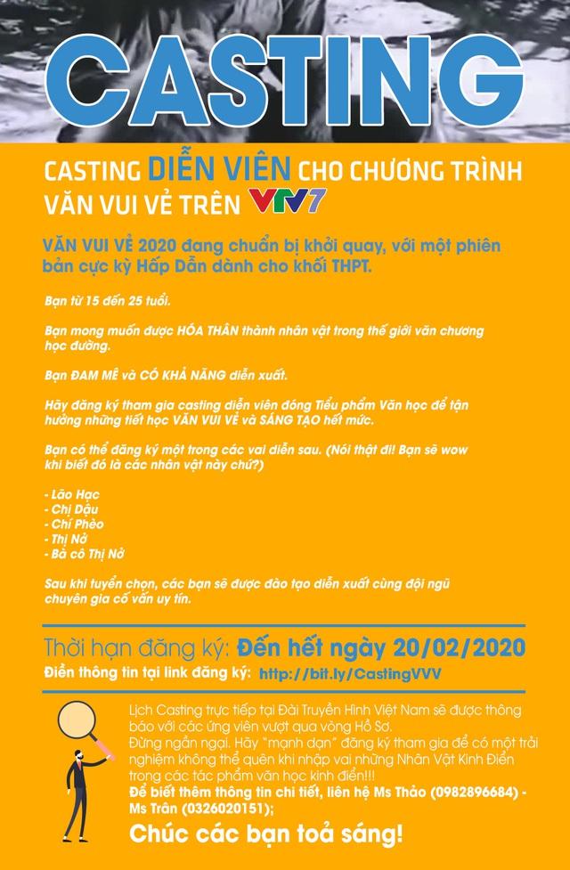 Thử sức làm diễn viên và MC của Văn vui vẻ trên VTV7, bạn đã sẵn sàng chưa? - Ảnh 1.