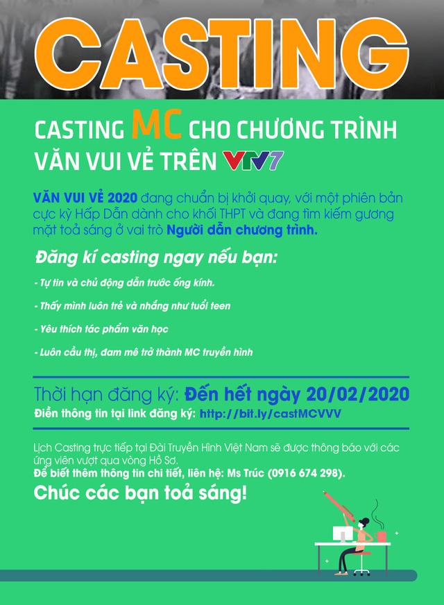 Thử sức làm diễn viên và MC của Văn vui vẻ trên VTV7, bạn đã sẵn sàng chưa? - Ảnh 2.