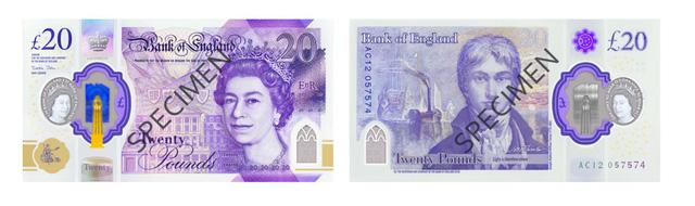 Anh lưu hành chính thức tờ tiền mệnh giá 20 Bảng bằng polymer - Ảnh 1.