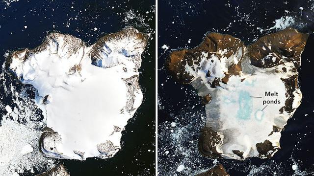 NASA công bố hình ảnh băng ở Nam Cực tan chảy sau đợt nóng kỷ lục - Ảnh 1.