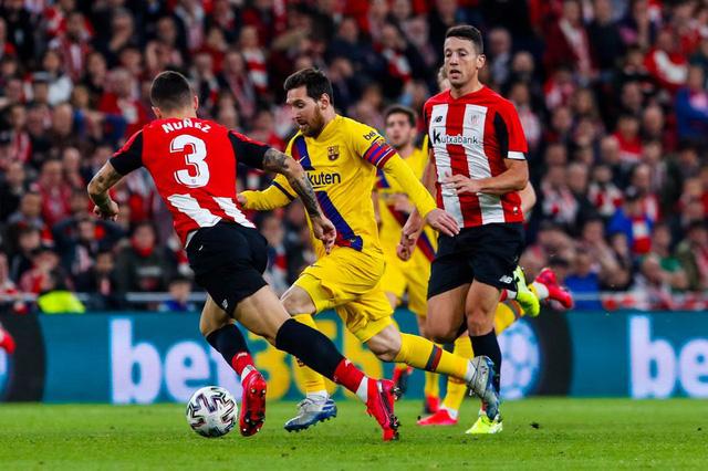 Tứ kết Cúp Nhà vua Tây Ban Nha, Athletic Bilbao 1-0 Barcelona: Messi và đồng đội chia tay Cúp Nhà vua - Ảnh 2.