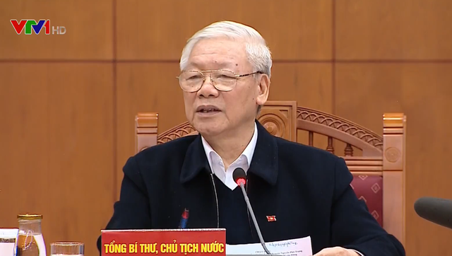 Tổng Bí thư, Chủ tịch nước Nguyễn Phú Trọng chủ trì họp Tiểu ban Văn kiện Đại hội XIII - Ảnh 1.