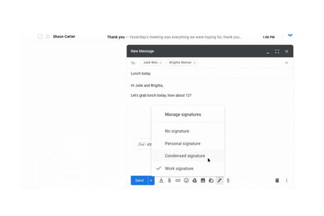 Gmail hỗ trợ tạo và sử dụng nhiều chữ ký trên email - Ảnh 1.