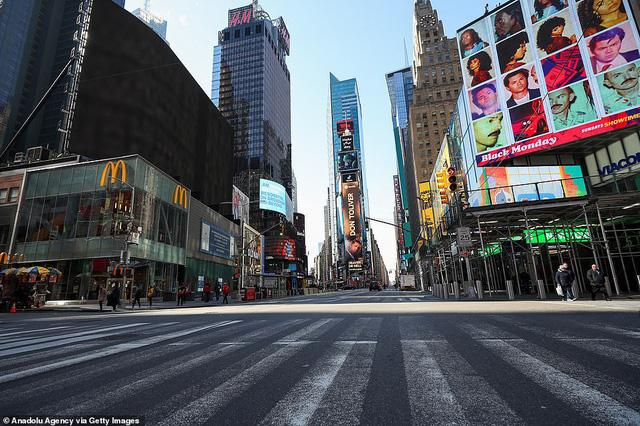 Thành phố không bao giờ ngủ New York (Mỹ) vắng vẻ trong mùa dịch COVID-19 - Ảnh 6.