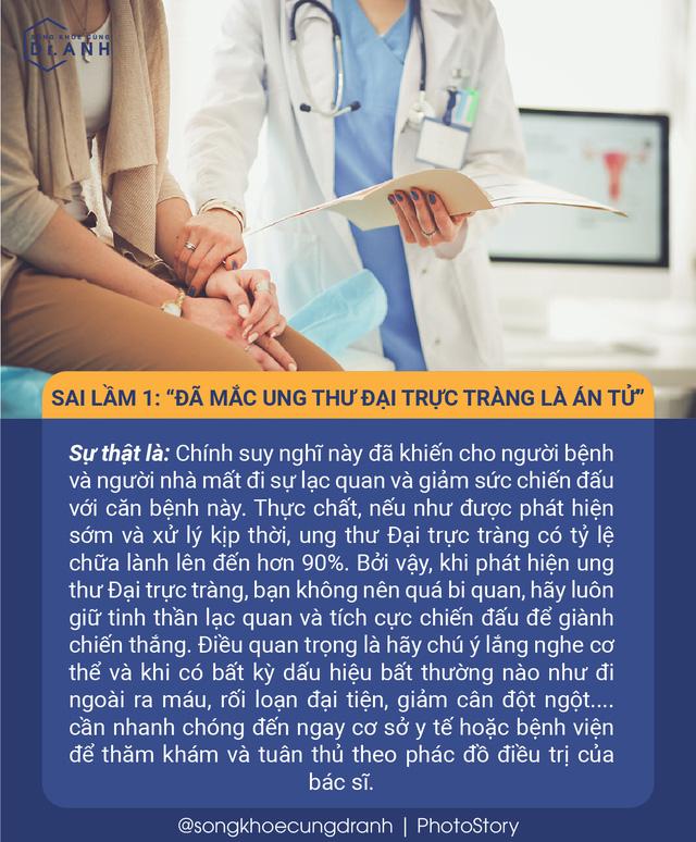 5 quan niệm sai lầm về ung thư đại trực tràng nhiều người Việt mắc phải - Ảnh 1.