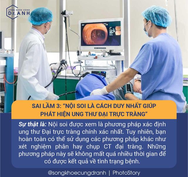 5 quan niệm sai lầm về ung thư đại trực tràng nhiều người Việt mắc phải - Ảnh 3.