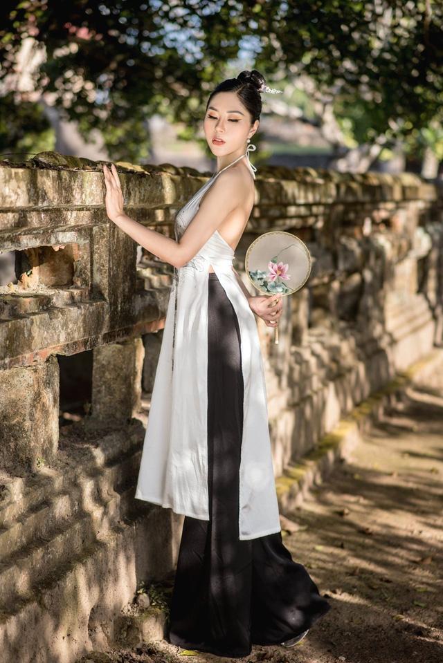 Người đẹp Tô Diệp Hà duyên dáng trong bộ ảnh áo dài - Ảnh 6.