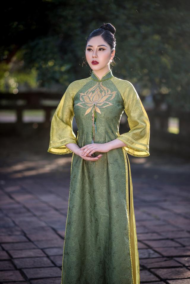 Người đẹp Tô Diệp Hà duyên dáng trong bộ ảnh áo dài - Ảnh 9.
