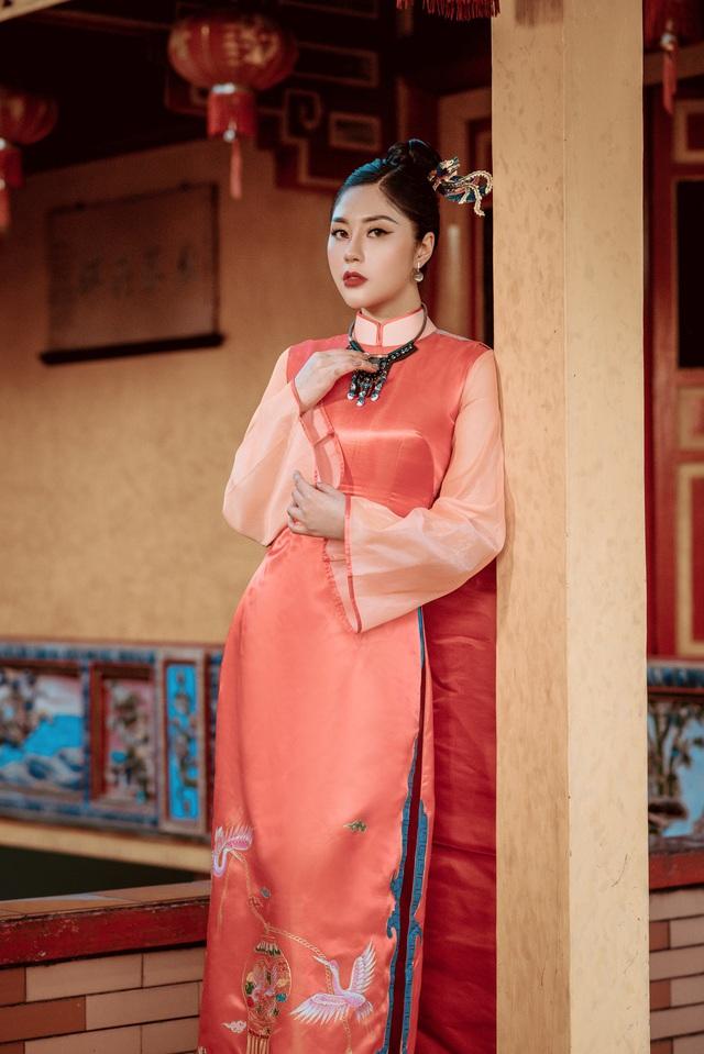 Người đẹp Tô Diệp Hà duyên dáng trong bộ ảnh áo dài - Ảnh 8.
