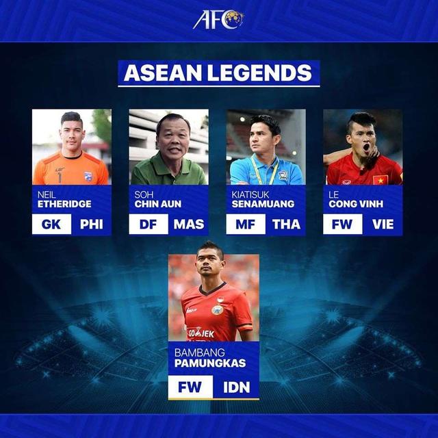AFC vinh danh Công Vinh là 1 trong 5 huyền thoại của bóng đá Đông Nam Á - Ảnh 1.