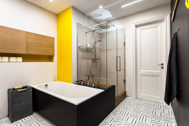 Ngôi nhà trang trí nội thất màu xanh và vàng lạ mắt - Ảnh 12.