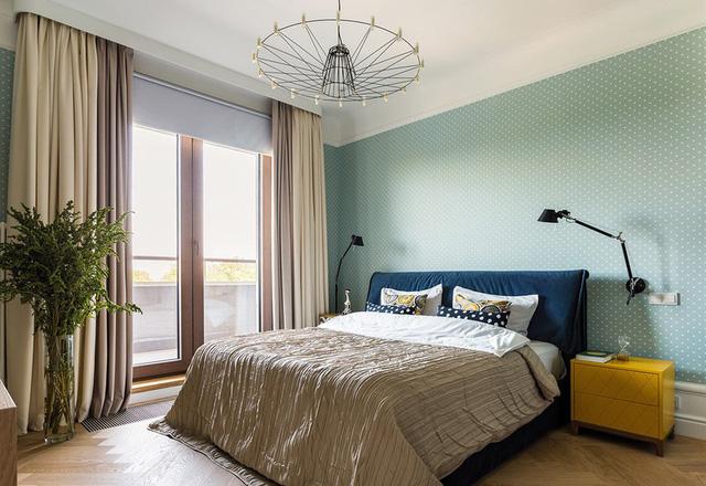 Ngôi nhà trang trí nội thất màu xanh và vàng lạ mắt - Ảnh 9.