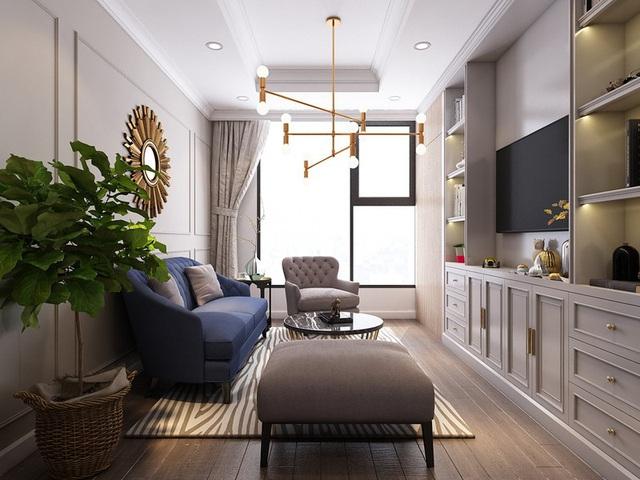 Mục sở thị căn hộ 30m2 mang phong cách tân cổ điển sang trọng - Ảnh 1.