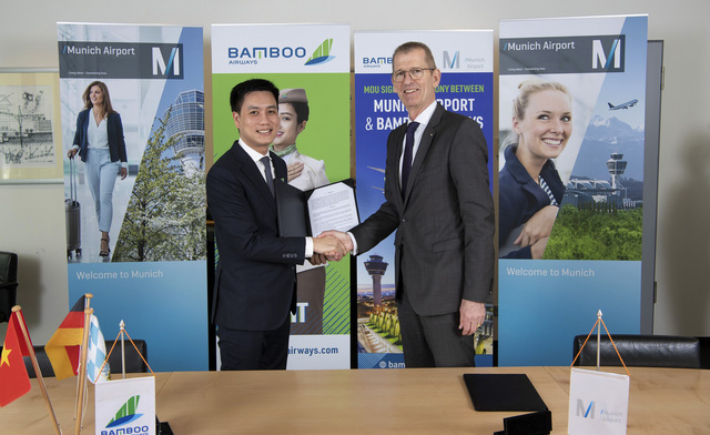 Representatives of Bamboo Airways and Munich Airport exchanged MoU