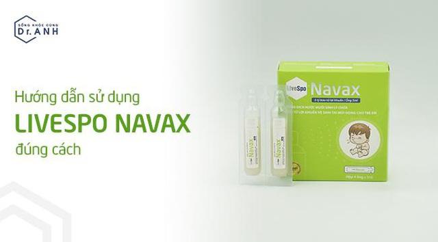 Hướng dẫn sử dụng xịt bào tử lợi khuẩn LiveSpo Navax cho đường hô hấp - Ảnh 1.