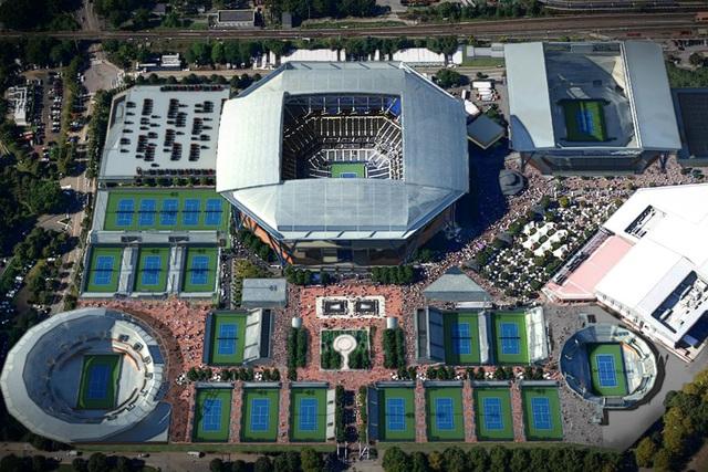 Sân US Open biến thành bệnh viện dã chiến - Ảnh 1.