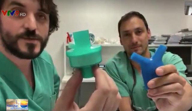 Nhân viên y tế tại Tây Ban Nha tự chế đồ bảo hộ - Ảnh 1.