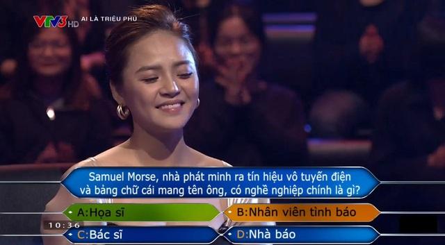Thu Quỳnh giành tấm séc 22 triệu đồng của Ai là triệu phú - Ảnh 2.