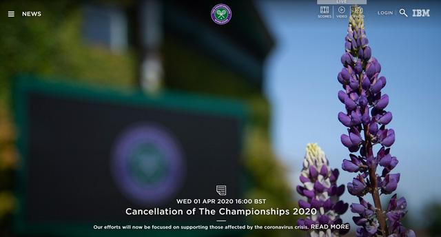 Giải quần vợt Wimbledon 2020 chính thức bị hủy - Ảnh 1.