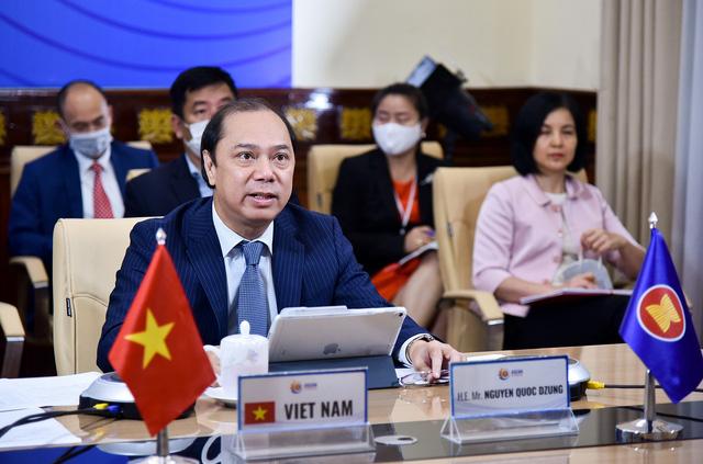 Hội nghị trực tuyến các quan chức cao cấp liên ngành ASEAN-Mỹ về các tình huống y tế công cộng khẩn cấp - Ảnh 1.