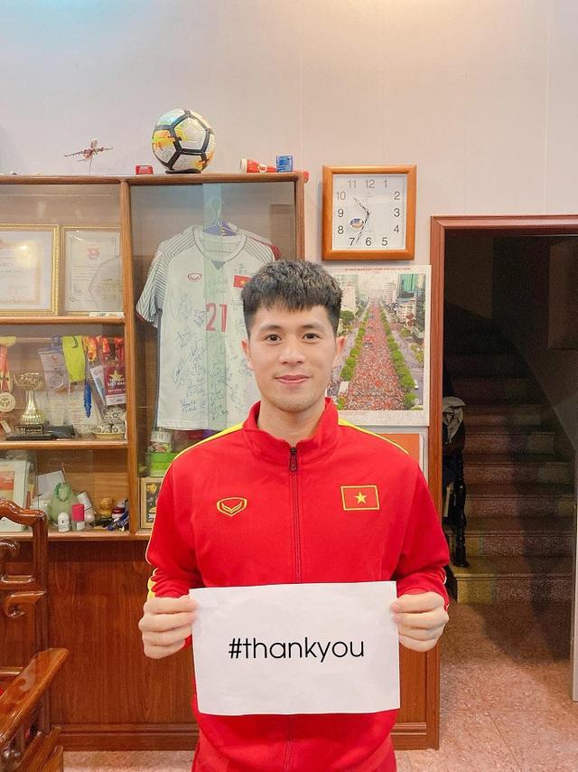 Quế Ngọc Hải, Đình Trọng, Tiến Dũng hưởng ứng chiến dịch Xin cảm ơn đẩy lùi COVID-19 - Ảnh 3.