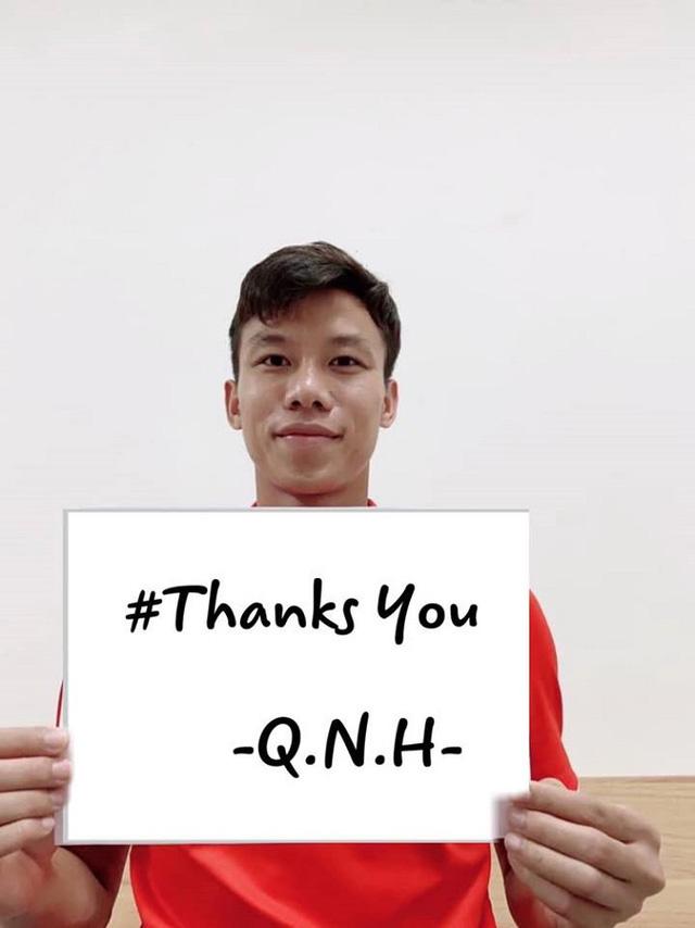 Quế Ngọc Hải, Đình Trọng, Tiến Dũng hưởng ứng chiến dịch Xin cảm ơn đẩy lùi COVID-19 - Ảnh 1.