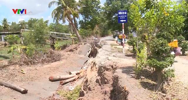 Sụt lún kinh hoàng vùng ngọt hóa Cà Mau - Ảnh 2.