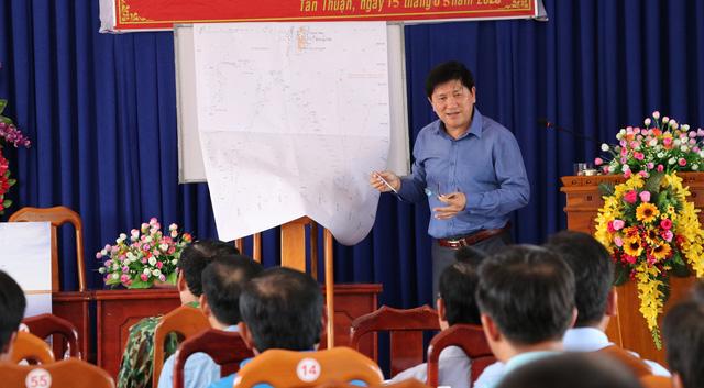 Cà Mau khảo sát về thông tin tua bin điện gió Tân Thuận cản trở giao thông biển - Ảnh 4.