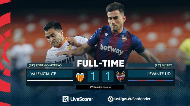 Kết quả, BXH vòng 28 La Liga hôm nay (13/6): Granada 2-1 Getafe, Valencia 1-1 Levante - Ảnh 5.